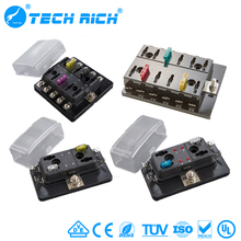 6 Way Standard Blade Fuse Box Holder 12V Car Fuse Relay Box
