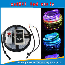 60Pixel/m 60leds/m RGB DC5V addressable WS2811 WS2812 WS2812B LED stripe 60 ws2811 led strip 12v