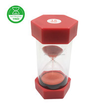 Red plastic 60 minutes sand timer / red sand with red case hourglass for kids gift