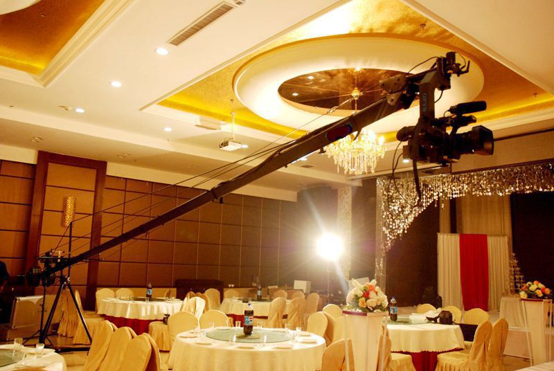 Professional Video Shooting Extendable Triangle Jimmy jib Crane For Camera