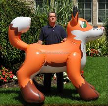 Despoke popular advertising inflatable funny fox cartoon / inflatable fox toy for sale