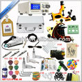 Professional tattoo machine kits,Complete set Tattoo machine tatoo kit tattoo equipment set,Tattoo Kit 2 Gun 14 Color 50 Needles