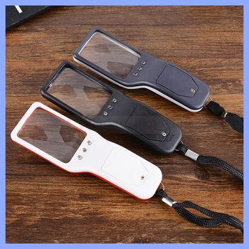 5X Handheld LED Magnifier Portable Reading Loupes