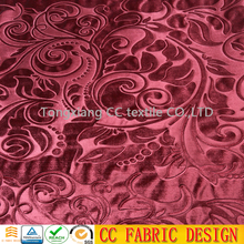 Embossed cut velvet upholstery fabric for cusion , sofa , cloth