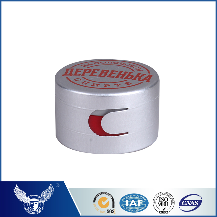 Plastic bottle cap for vodka whisky brand