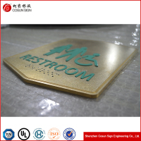 shenzhen Brass bathroom door sign b lights number plate