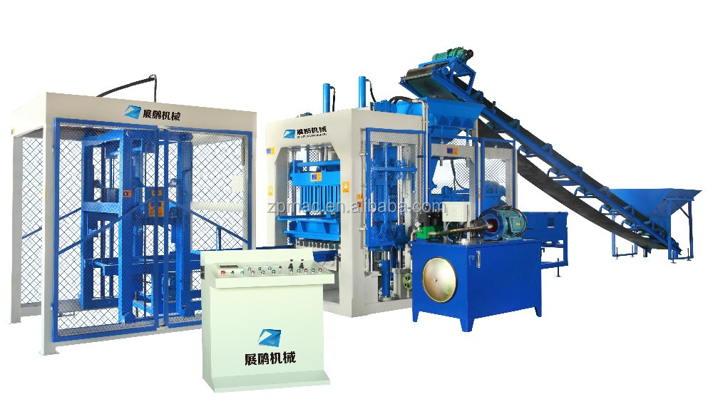 Hot selling QT8-15 fly ash brick making machine diesel the engine lebanon beirut In Egypt