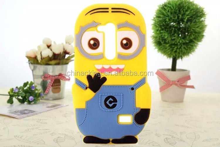 Despicable Me Silicone Mobile Phone Cover 3D Minions Silicone Case Cover for LG G3