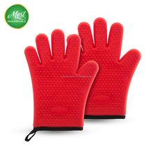 New Design Heat Resistant BBQ Grill Silicone Oven Gloves