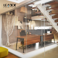New Style Fused Glass Living Room Glass Partition Screen Design