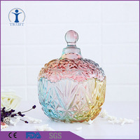 new design cheap home Decorative Weddings glass Candy jars