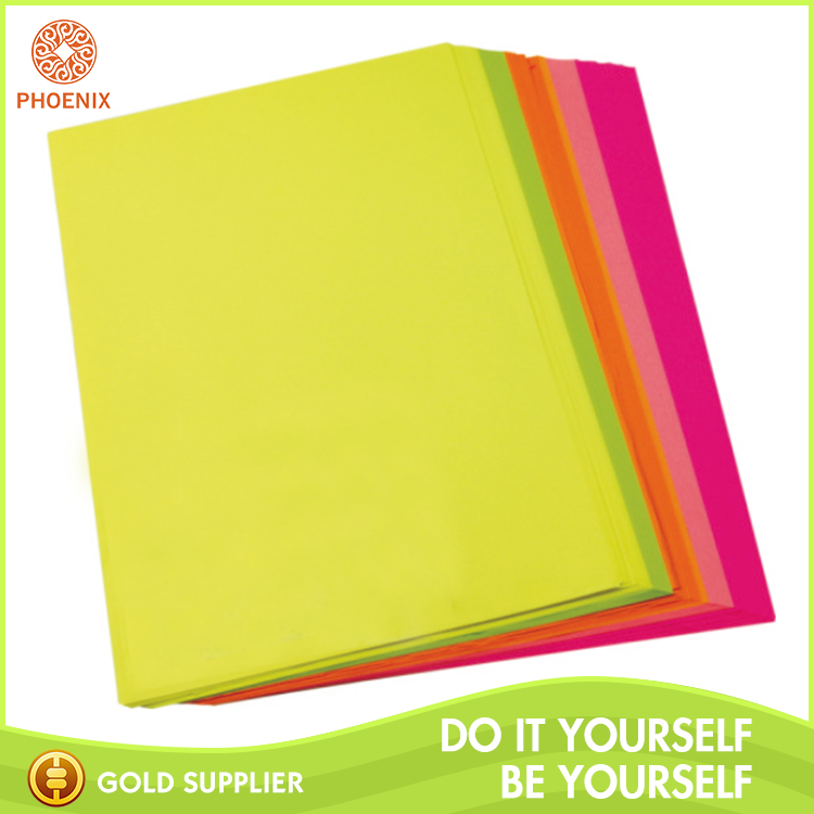 A4 size Neon color paper sheet 75 gsm