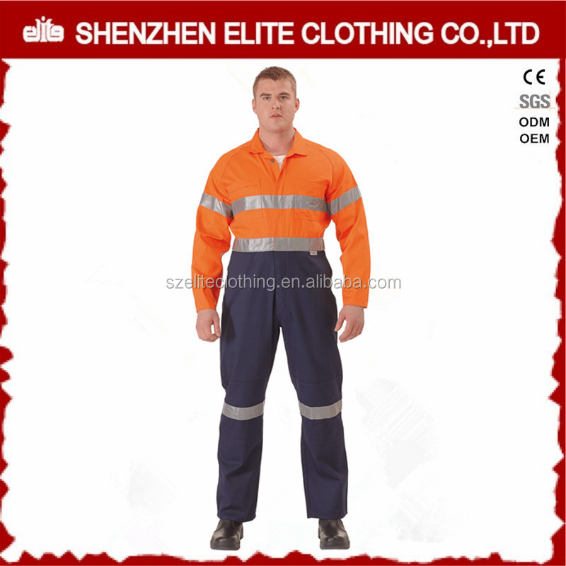 customized road mining construction reflective safety insulated overalls workwear