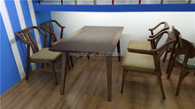 High end 4 seaters wood restaurant furniture(FOH-WRS92)