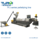 TURUI PP PE WASTE BAG AND FILM WATER COOLING SINGLE SCREW PLASTIC RECYCLING MACHINES TO MAKE