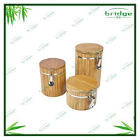 Kitchen bamboo tea box bamboo food container