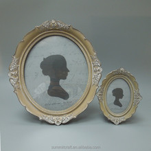 Factory direct resin vintage antique oval picture frame