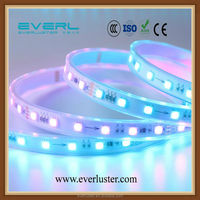 addressable 3m 30/60LEDs/m DC5V led pixel strip,waterproof in silicon tube;IP65,RGB full color