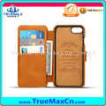 Mavericks Case vs Card Slot and Holder Calf Pattern PU Leather Mobile Phone Cover for iPhone 6 6S Plus 7 Plus