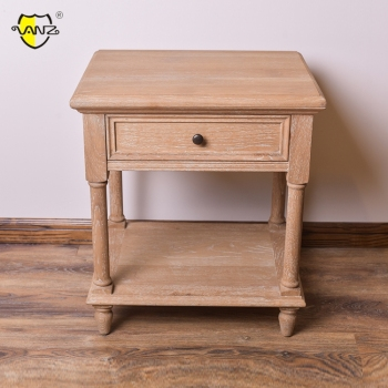 CABW16603 High Quality Cheap oak wood bedside table with a drawer