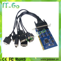 Multi Serial RS-232 Port PCI Card , SystemBase 16C1058 , PCI to 8 ports DB9 serial expansion card