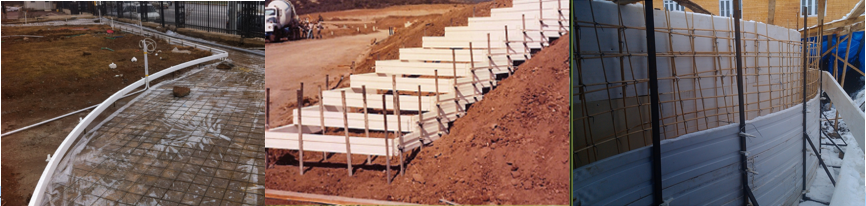 lightweight gardening formwork material for Concrete Walkways