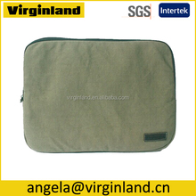 Green color 12-inch Neoprene Notebook S ve Bag for Computer Removable
