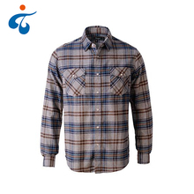 Best quality eco-friendly custom cotton men casual flannel check shirt