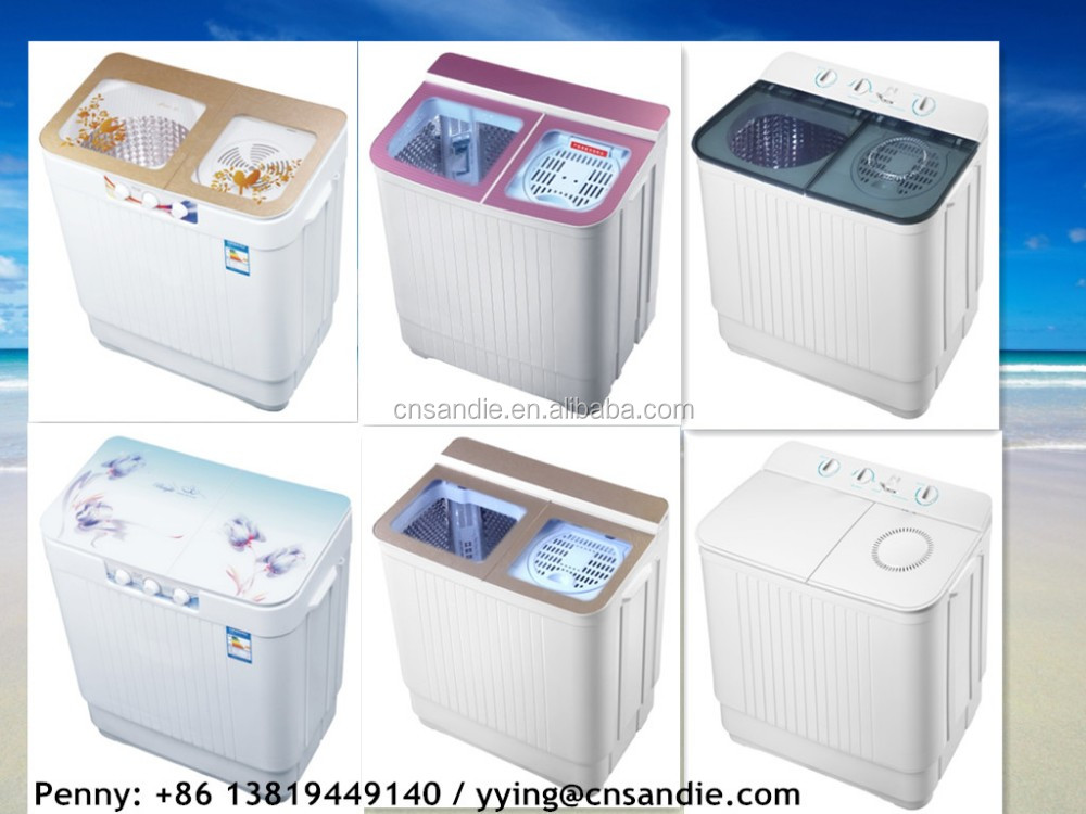 low cheaper export to European 7.0-13.0kg semi automatic twin tub washing machines with drying