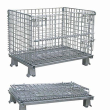 collapsible warehouse cages/folded storage cage/steel butterfly cage