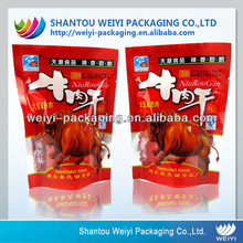 Custom printing stand up bags for packing of dry beef