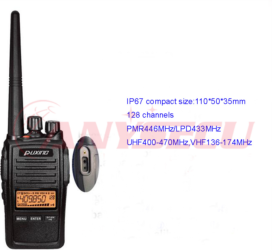 IP67 PMR446 LPD433 license free Puxing PX-578 compact size FM UHF Two way radio