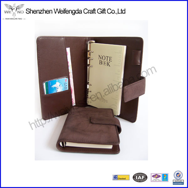 Top Grade A5 Brown PU Leather Agendas Organizer 2014