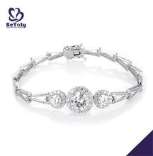 Wholesale fashion jewelry customized sterling silver bracelet