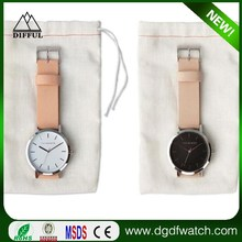 Leather Watch Vintage Men's D Wristwatch For Ladies Black and Brown Leather Watch Strap no name custom logo horse watch