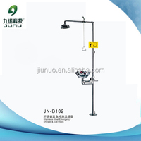 Laboratory stainless steel emergency shower & eye wash for safety