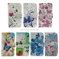flower printed flip cover case for htc desire 816 leather case