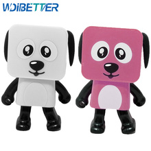 Factory Directly Hand Free Fashion Enjoy Music Mini Dancing Cube Portable Dance Robot Dog Speaker