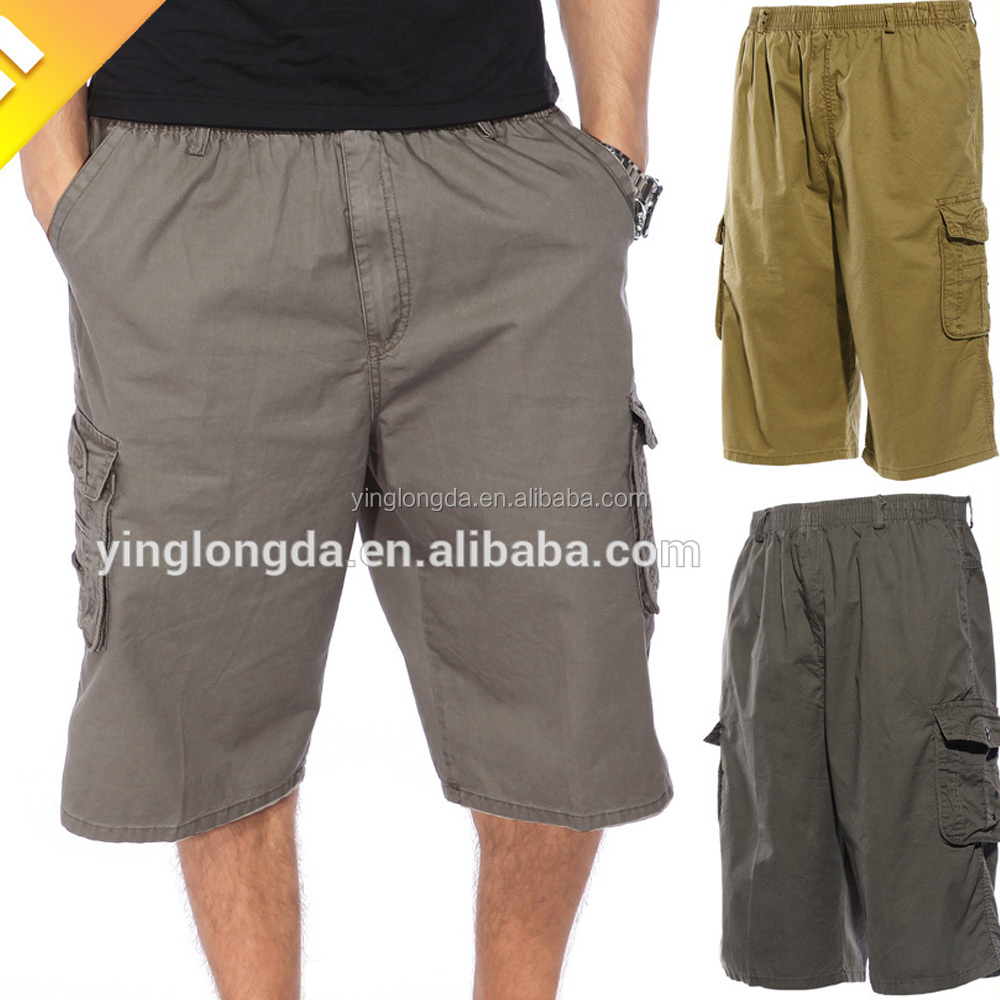 Economic hot sale multi cargo pockets men's short pants 3/4 pants