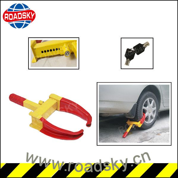 Hot Yellow Security Clamp Wheel Tire Disc Lock
