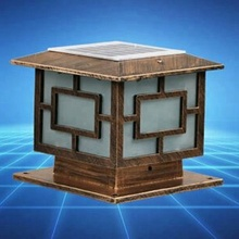 Solar Post Pillar Light, Size: 30CM X 30CM Or 11.8In X 11.8In, Solar Powered Outdoor Post Cap Lights or Lantern