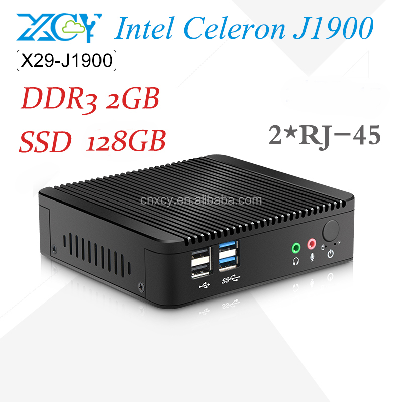Best selling Mini PC CPU Intel J1900 2.0GHz fanless Computer X86 Board 2G RAM 128G SSD Thin client Desktop Computer