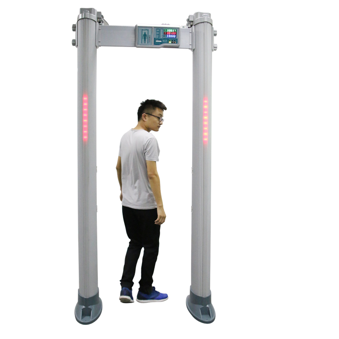24 zones security walk through metal detector with LCD and battery backup for security check