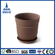 Durable natural looking tea cup and saucer flower pot