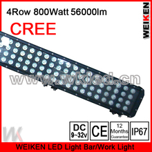 800w 4 Row CREE LED Light Bars/ 4x4 4 Row LED Light Bars/ 52 inch 4x4 LED Light Bars