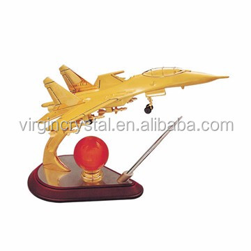 Metal airline airplane sculpture 3d models as office table decoration