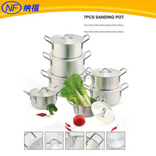 sanding finish aluminium cooking pot