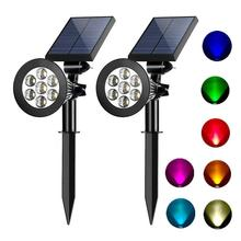 2 in 1Waterproof 7led Multicolor Changing Landscape Window <strong>Moving</strong> Head Lights Underground Spike <strong>LED</strong> Wall Light Solar Spotlight