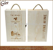 Excellent wood wine gift boxes for wine bottles,Beer bottle gift boxes