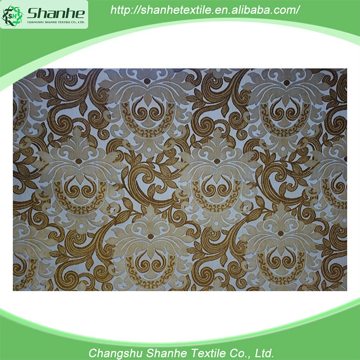 China wholesale market agents flocked jacquard polyester mesh fabric